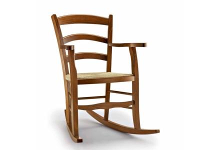 art. 1191/DON Dondolo rustico con sedile paglia