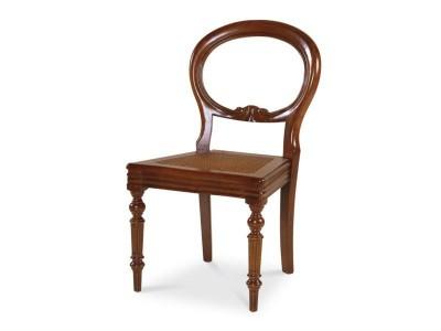 Art. 200S/F  Sedia Impero Intagliata con seduta cannata