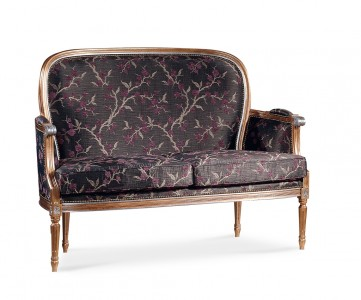 Art. 300D Divano Luigi XVI imperiale tondo liscio
