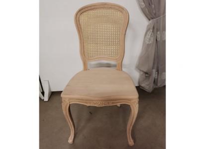 art. 101SAL/14 Sedia mara liscia con seduta legno e schienale paglia di vienna