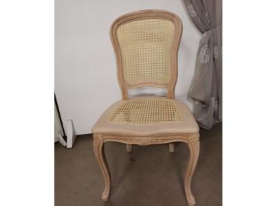 art. 101SAL/12 Sedia mara liscia con seduta e schienale in paglia di vienna