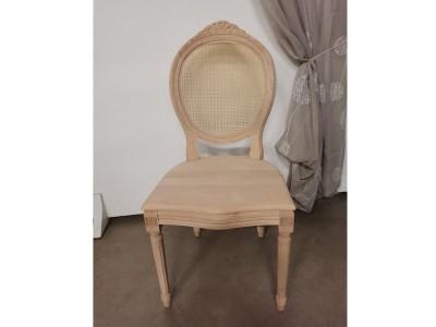 art.102SC Sedia luigi xvi intrec.c/cresta seduta legno e schienale paglia fine