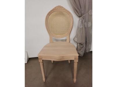 art. 102SC Sedia luigi xvi intrecc.c/cresta seduta legno schienale in paglia vienna