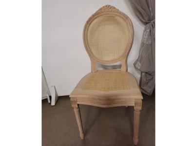 art. 102SC Sedia luigi xvi intrecc.c/cresta seduta e schienale  paglia fine