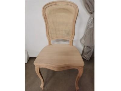 art. 276/15 Sedia 700 barocchetta con seduta legno e schienale paglia fine