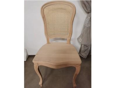 art. 276/14 Sedia 700 barocchetta con seduta legno e schienale in paglia di vienna