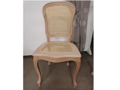 art. 276/12 Sedia 700 barocchetta con seduta e schienale in paglia di vienna
