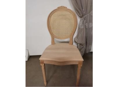 art.90S/C Sedia luigi xvi con cresta seduta legno e schienale paglia vienna