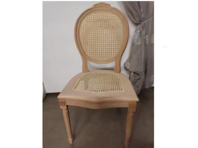 art. 90S/C Sedia luigi xvi con cresta seduta e schienale  paglia di vienna