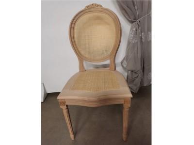 art. 90S/C Sedia luigi xvi con cresta seduta e schienale  paglia fine