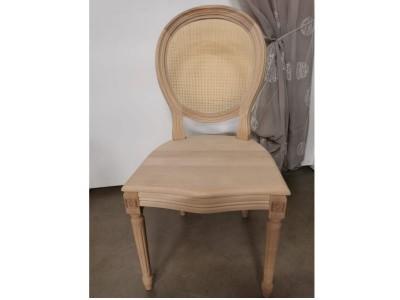 art. 90/15 Sedia luigi xvi con seduta in  legno e schienale paglia fine