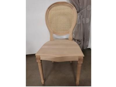 art. 90/14 Sedia luigi xvi con seduta legno e schienale paglia di vienna