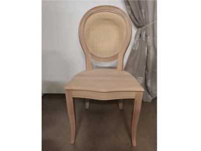 art. 91/15 Sedia napoleone con seduta legno e schienale paglia fine