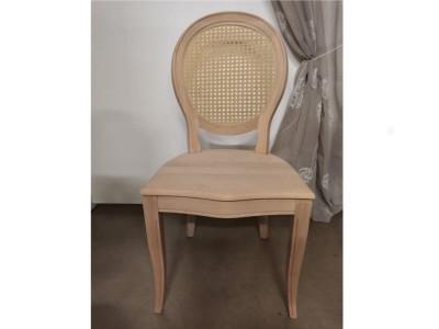 art. 91/14 Sedia napoleone con seduta legno e schienale paglia di vienna