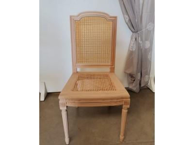 art. 104SL Sedia luigi xvi quadra arcata liscia con seduta e schienale  paglia di vienna