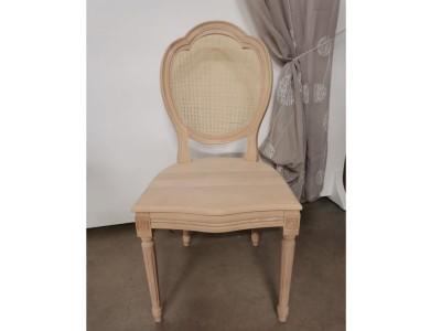 art. 90T/15 Sedia luigi xvi tre archi con seduta legno schienale paglia fine