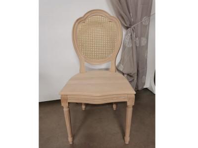 art. 90T/14 Sedia luigi xvi tre archi con seduta legno schienale paglia vienna