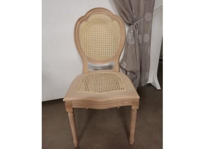 art.90T/12 Sedia luigi xvi tre archi con seduta e schienale in paglia vienna