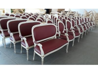 Poltrone e divani luigi xvi intrecciate con cresta  art. 102PC / 102DC