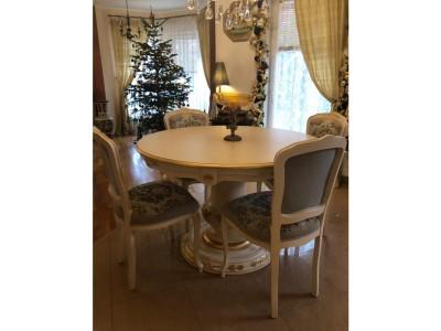 Sedie parigine art. 160S con tavolo tondo art. 1426T